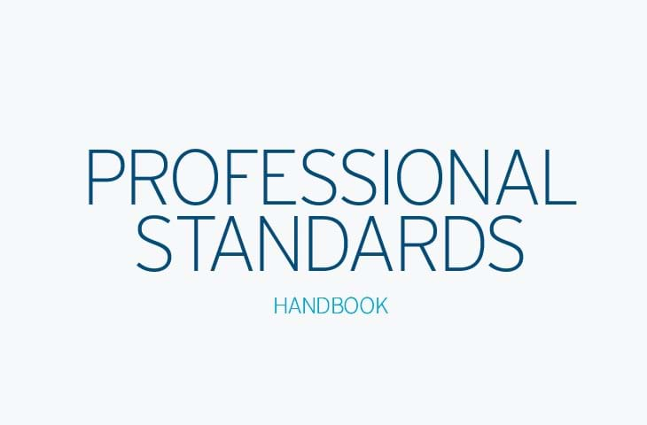 2018 Handbook of Professional Standards Image